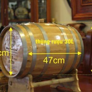 Thùng rượu gỗ sồi 30l Cao Cấp