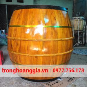 Trống chùa 1m2 gỗ mít da trâu